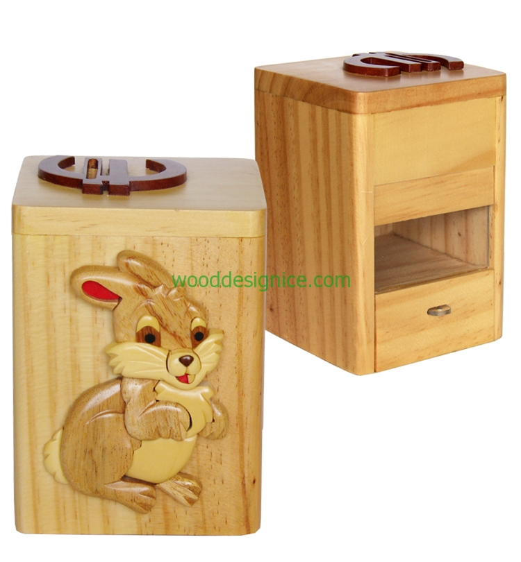 Wooden Money Box MON001