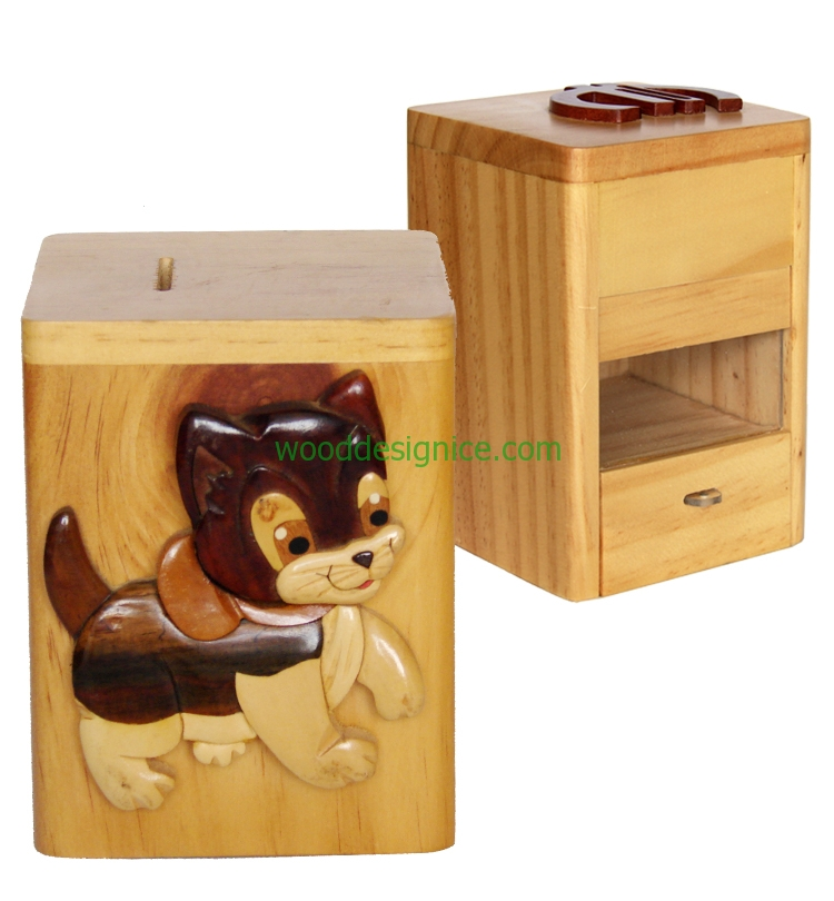 Wooden Money Box MON002