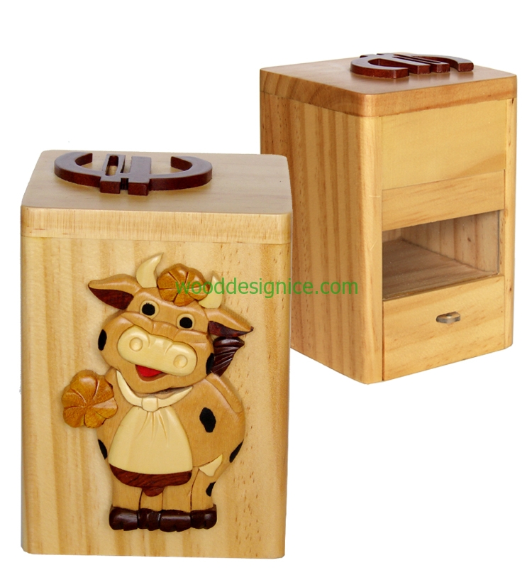 Wooden Money Box MON004
