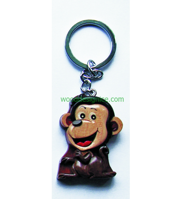 Wooden Keychain KEY004