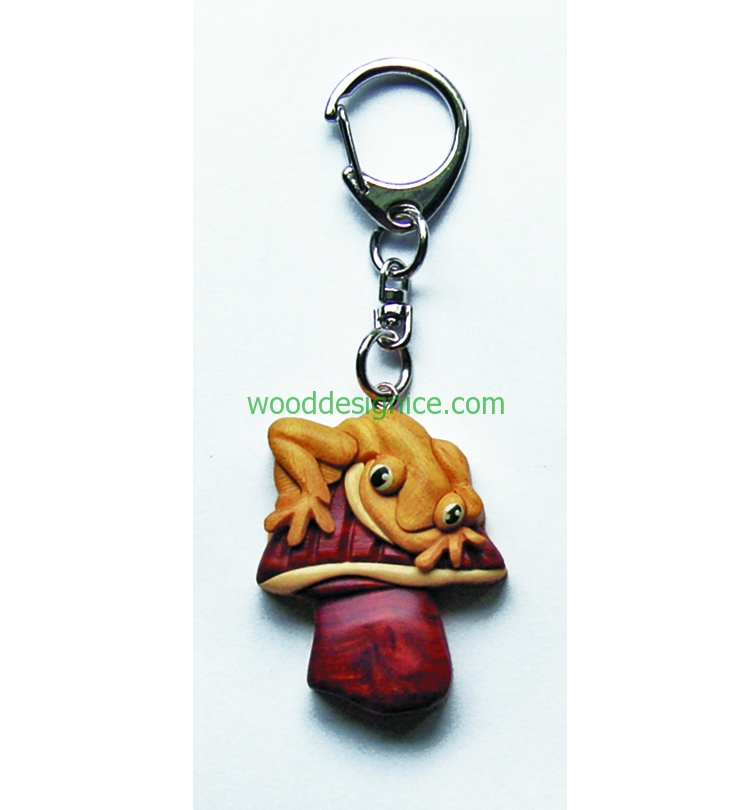 Wooden Keychain KEY029