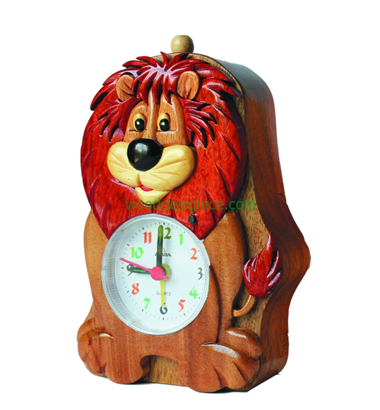 Wooden Clock Alarm CLK002