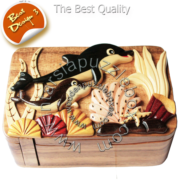 Wooden Puzzle Box 086