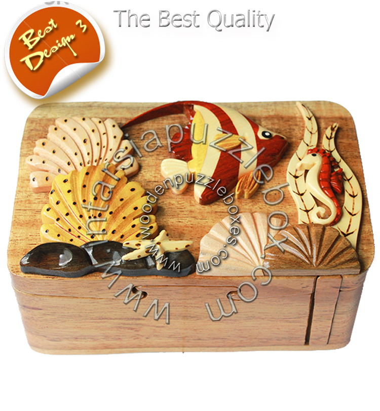 Wooden Puzzle Box 085