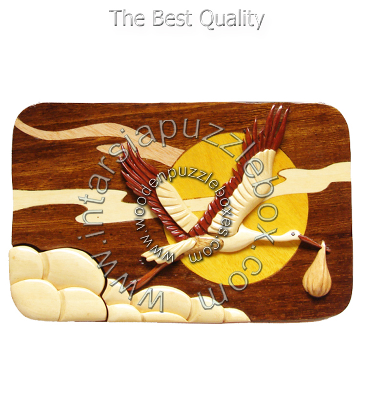 Wooden Puzzle Box 044